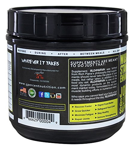 5% Nutrition - Rich Piana All Day you May (30 serv) 1 Unidad 460 g